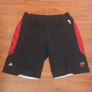 Men's Adidas NBA Miami Heat Basketball Shorts